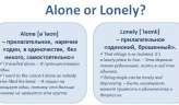 Confusing words. Alone or Lonely