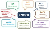 Phrasal verb Knock