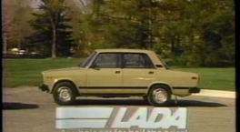 LADA 1984 advertisement. The Soviet export car 80s