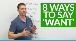 Speaking: 8 ways to say 'WANT' Adam Engvid